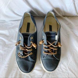Women's Navy Slip On Sperry Sneakers, Size 9